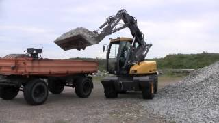 Mecalac 12 MTX in recycling operations