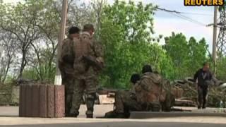 Бои в Славянске: боевики в панике разбегаются
