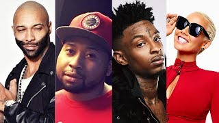21 Savage Says to DJ Akademiks NO MORE DISRESPECT to Amber Rose or I'm PULLING UP Resimi