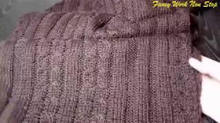 Мужской шарф спицами