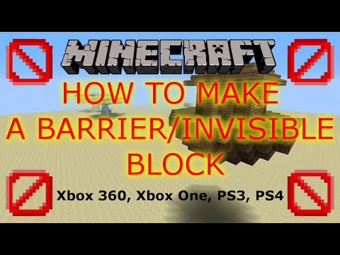Barrier/Invisible Block (Tutorial) - Minecraft Xbox 360. Xbox One, PS3, PS4