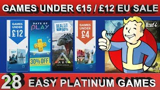 PS4 EU Games Under €15 / £12 - 28 Easy Platinum Games - Playstation Store Sale until 05/07/2018