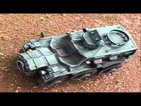Scratch-Built Motorised Model of a British Alvis Saracen (FV603) Armoured Personnel Carrier (A.P.C.)