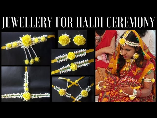 Flower Jewellery for Haldi Ceremony   Wedding Season   Get Everything At Once