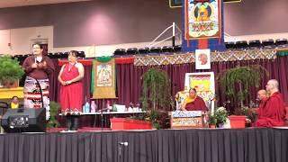 HH Sakya Trichen Rinpoche Cultural Exchange Santa Fe Indian School. - Larry R. Lolita C. Poquin L