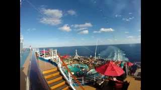 Carnival Breeze leaving Grand Turk Time-lapse 12/8/14. 1080p HD