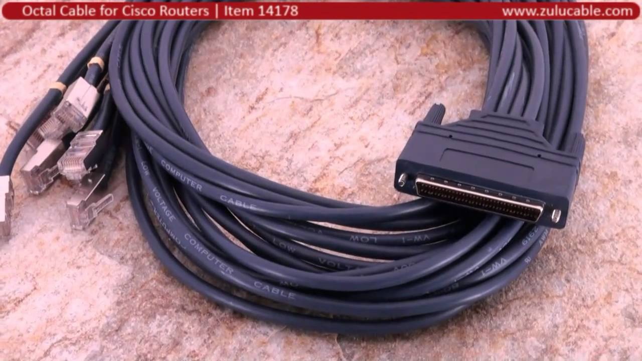 CAB-OCTAL-ASYNC Eight Lead Octopus Cable for Cisco 72-0845-01 ...