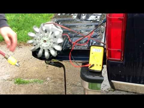 Water turbine test