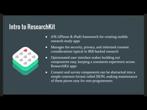 Michael Carroll — ResearchStack: Building a Cross-Platform Mobile Research Study in 30 Minutes!