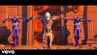 Spooky Scary Skeletons (The Living Tombstone Remix) Fortnite Music Video