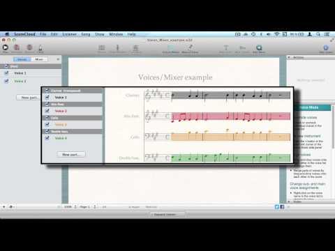 Edit Voices - ScoreCloud Studio Tutorial