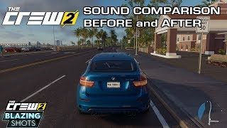 The Crew 2 - BMW X6 M Sound Comparison - Before and After November Update (Blazing Shots Update)
