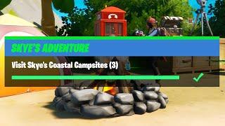 Visit Skye's Coastal Campsites (3) - Fortnite Skye's Adventure Challenges