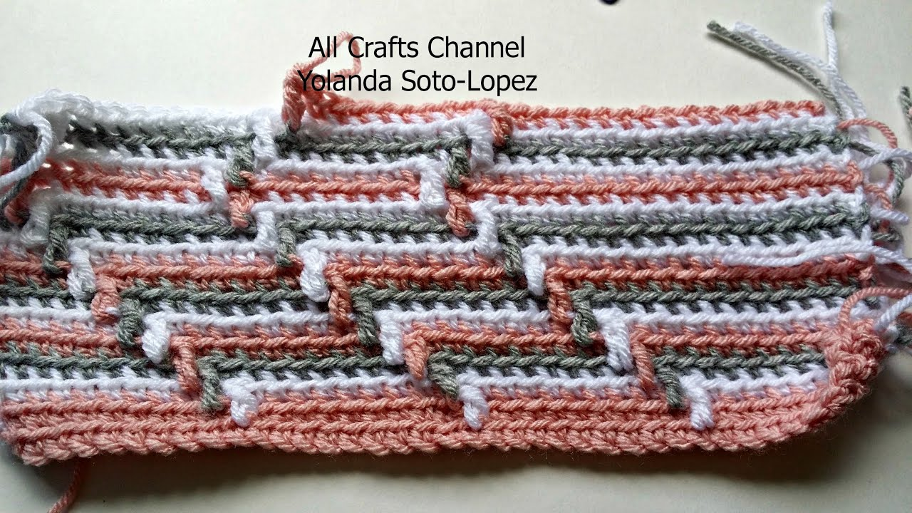 Crochet Stitches American Vs English : How to crochet Apache Tears pattern for blanket (English ) - YouTube
