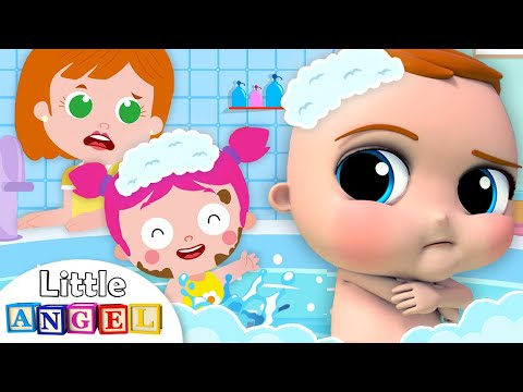 No No I Dont Want A Bath | Little Angel Nursery Rhymes and Kids Songs