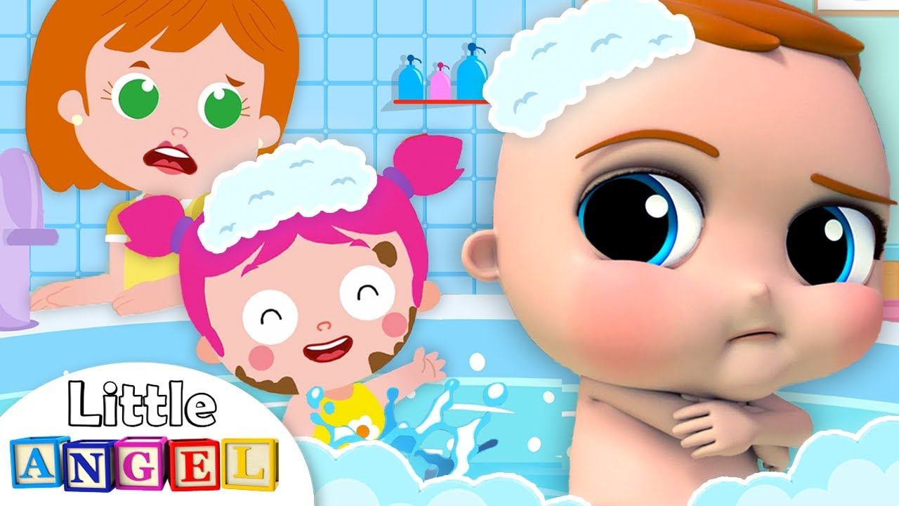 No No I Don't Want A Bath | Little Angel Nursery Rhymes and Kids Songs