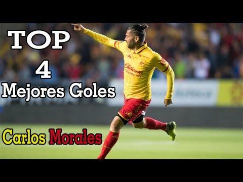 TOP 4 Mejores Goles de Carlos Morales   Monarcas Morelia   Liga MX