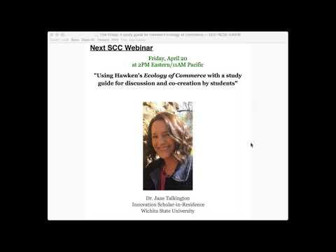 April 20, 2018 SCC Webinar with Jane Talkington