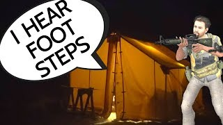 """3 ARMED MEN WAKE US UP IN OUR WALL TENT-- """"Dad, I hear footsteps outside"""""""