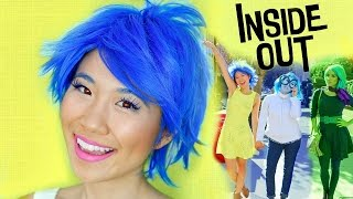 DIY Inside Out Halloween Costumes + Makeup Tutorial | Girl Group Idea!