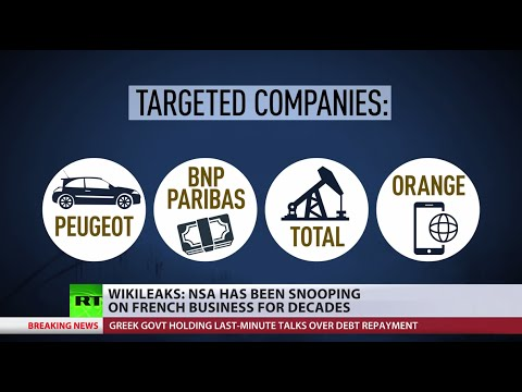 Friendly Spying: Wikileaks reveals NSA 'economic espionage' of French companies
