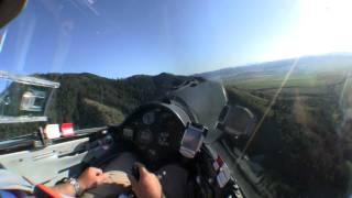 Glider Landing in Tall Wheat Field