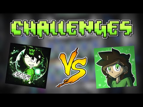 DOING MY BEST... | Geometry Dash CHALLENGES With AzaFTW