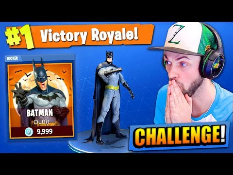 The BATMAN CHALLENGE in Fortnite: Battle Royale!