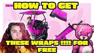 HOW to get the PINK WRAP **CUDDLE HEART WRAP ** in FORTNITE BATTLE ROYALE