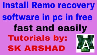 How to install remo recover software easy and free