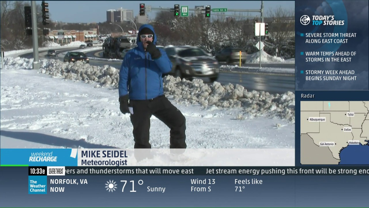 mike seidel the weather channel rochester  mn snow  moe