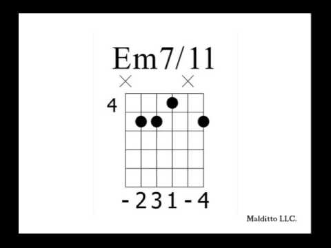 Piano piano chords em7 : Em7 11 - YouTube
