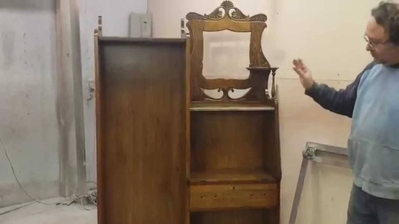 refinishing antique oak secretary - Refinishing Antique Oak Secretary - YouTube