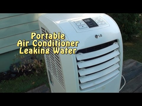Portable AC leaking water. Bad float or not level?