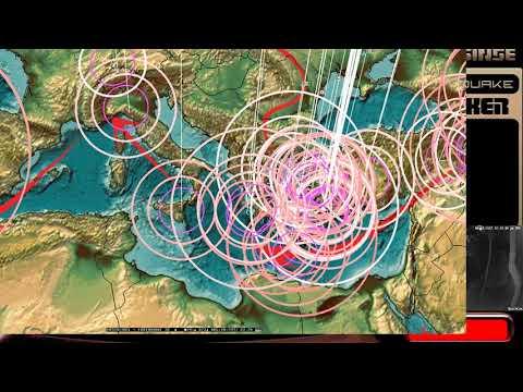 8/17/2017 -- Global Earthquake Update -- Large rare M6.8 strikes Central ATLANTIC Ocean - 동영상