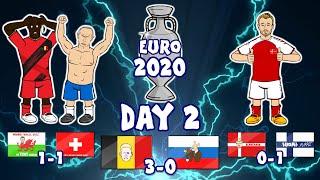 🏆Euro 2020: Day 2!🏆 Lukaku goals! Castagne injured! Eriksen is stable! (Goals Highlights)