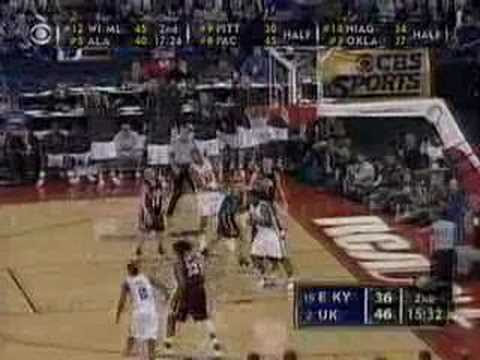 clip from the 2005 uk and eku ncaa tourny game