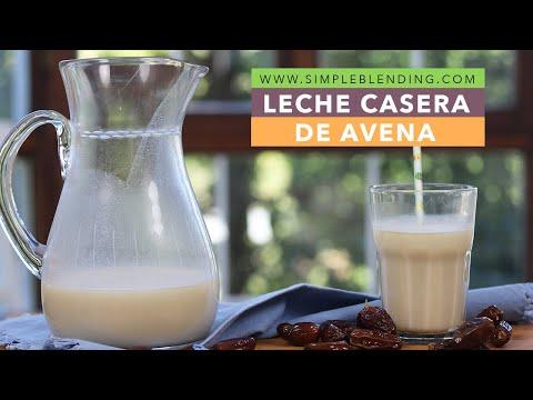 Cómo preparar bebida vegetal de avena | Receta de leche de avena casera | Receta muy fácil