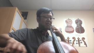 J. S. Bach suite for solo cello no. 6 in D major, gigue.
