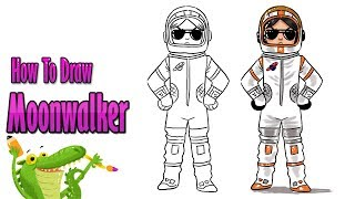 How To Draw and Coloring Fortnite Moonwalker | Outfits - Fortnite Skins