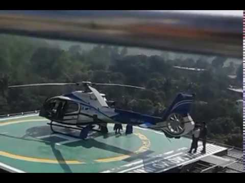 Helicopter Landing on Building