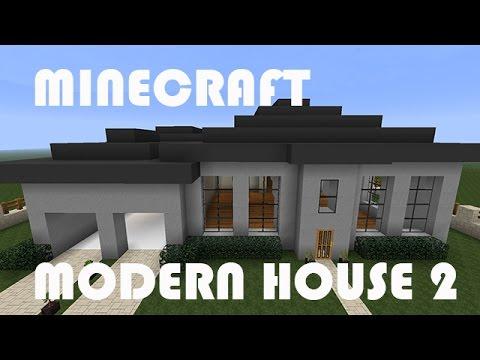 Modern House Minecraft Blueprints - YouTube