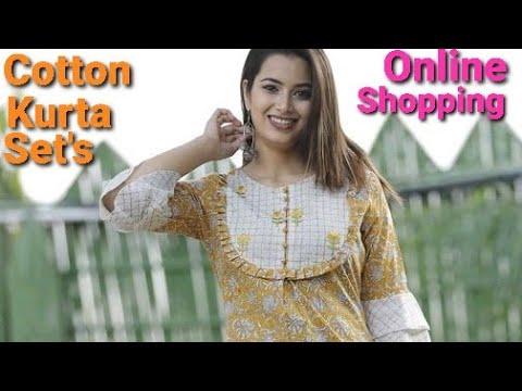 Cotton Kurta Sets   Online Shopping   Cod Available   Infinite Fashion Store    See Description Box