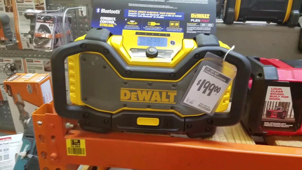 dewalt radio dcr025. dewalt dcr025 jobsite bluetooth radio charger quick look and other radios dcr025 e