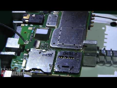 Alcatel 6036Y : sim connector