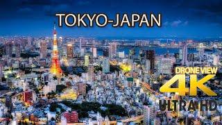 Du lịch Tokyo từ trên cao-Khám phá vẻ đẹp của nhật bản (JP) nhìn từ Flycam-Tokyo Japan drone View 4K
