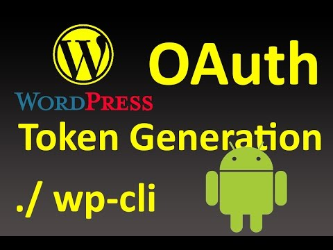 Wordpress OAuth Token Generation without...