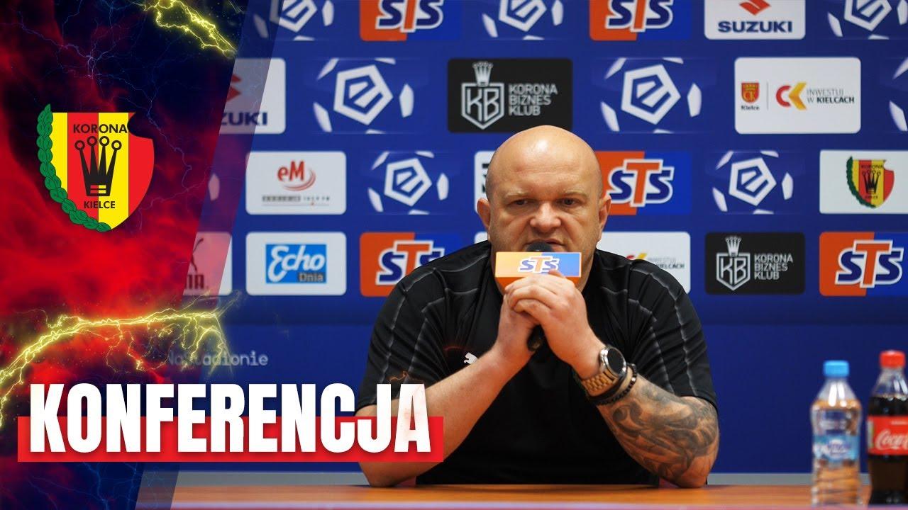 Trener Bartoszek przed meczem z Wisłą Kraków (09.07.2020)