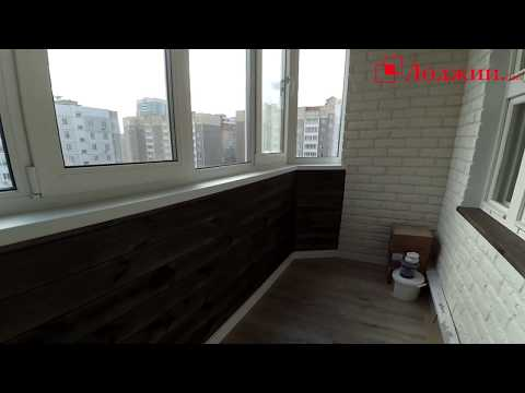 Утепление и отделка балкона. Декоративный гипсовый камень.