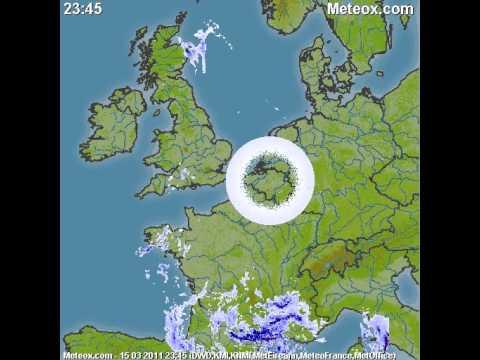 Strange circle in weather radar over europe, unusual or technical error ?